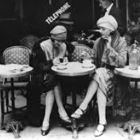 Women in a Paris cafe in the 1920s