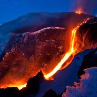 Lava flow in Iceland